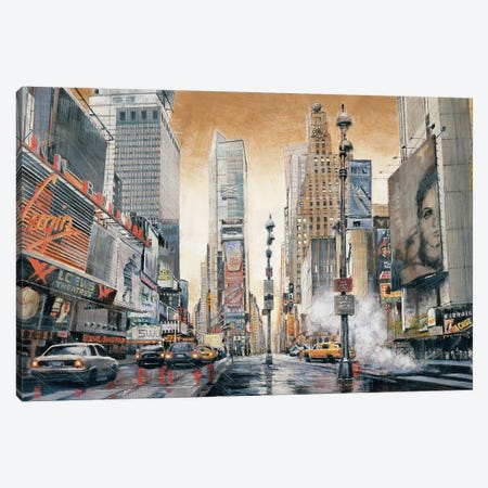 Crossroads (Times Square) 3-Piece Canvas #MDA19} by Matthew Daniels Art Print