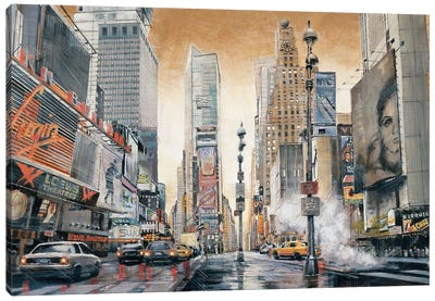 Crossroads (Times Square) Canvas Art Print