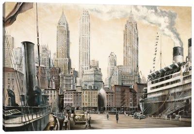 Departure, New York Canvas Art Print