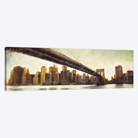 Brooklyn Bridge View Canvas Print #MDA20} by Matthew Daniels Canvas Art