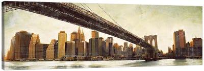 Brooklyn Bridge View Canvas Art Print