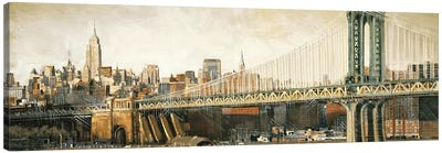 Manhattan Bridge View Canvas Art Print