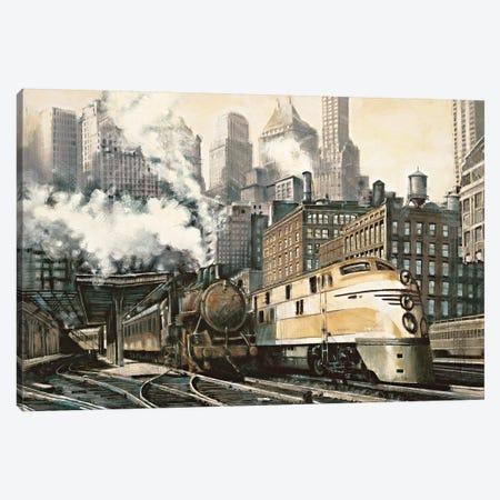 The Station, Chicago Canvas Print #MDA22} by Matthew Daniels Canvas Artwork