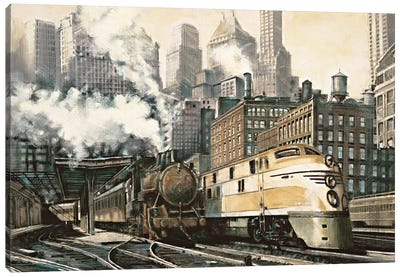 The Station, Chicago Canvas Art Print