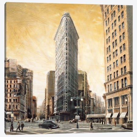 The Flatiron Building 3-Piece Canvas #MDA23} by Matthew Daniels Canvas Art