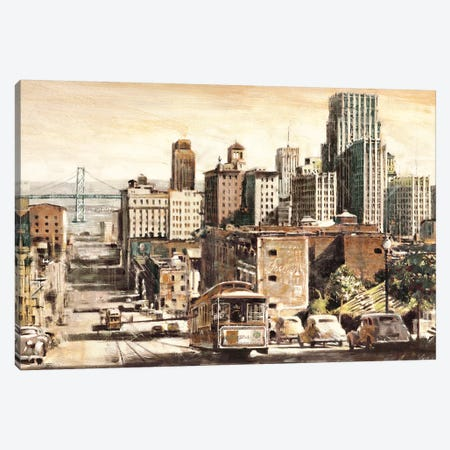 San Francisco View to Bay Brid Canvas Print #MDA24} by Matthew Daniels Art Print