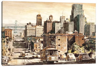 San Francisco View to Bay Brid Canvas Art Print