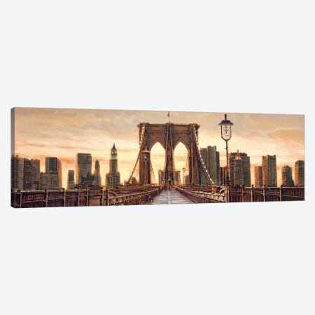 Manhattan Evening 3-Piece Canvas #MDA25} by Matthew Daniels Canvas Print