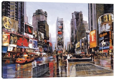 Evening in Times Square Canvas Art Print