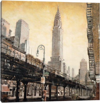 The Chrysler Building from the Ground Canvas Art Print