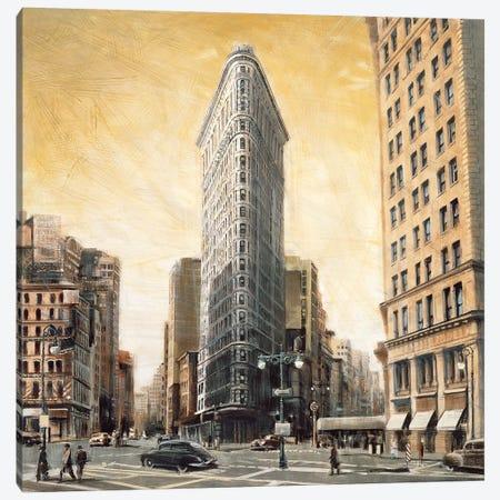 The Flatiron Building Canvas Print #MDA4} by Matthew Daniels Canvas Artwork