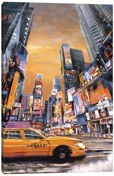 Times Square Perspective I Canvas Art Print