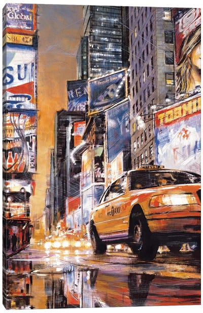 Times Square Perspective II Canvas Art Print