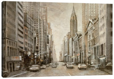 To the Chrysler Building Canvas Art Print