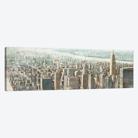 City View of Manhattan 3-Piece Canvas #MDA8} by Matthew Daniels Canvas Art Print