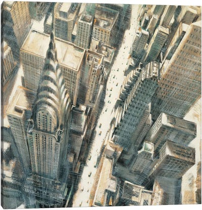 Aerial View Chrysler Bldg Canvas Art Print
