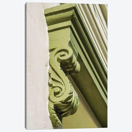 Architectural detail on the Clarendon building, Old Sacramento Historic Center, Sacramento, CA Canvas Print #MDE10} by Michael DeFreitas Canvas Art Print