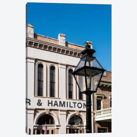 Baker and Hamilton building in Old Sacramento Historic Center, Sacramento, California. Canvas Print #MDE11} by Michael DeFreitas Canvas Art Print