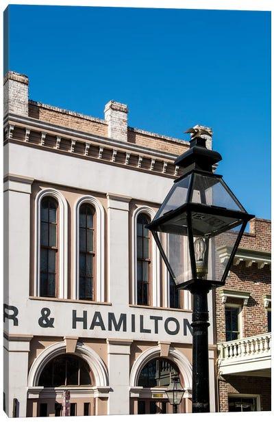 Baker and Hamilton building in Old Sacramento Historic Center, Sacramento, California. Canvas Art Print