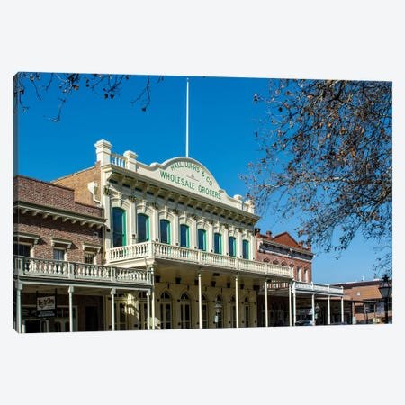 Old Sacramento Historic Center, Sacramento, California. Canvas Print #MDE12} by Michael DeFreitas Canvas Print