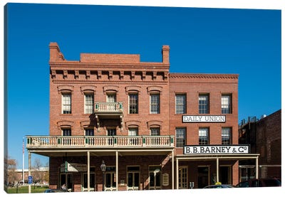 Old Sacramento Historic Center, Sacramento, California.  Canvas Art Print