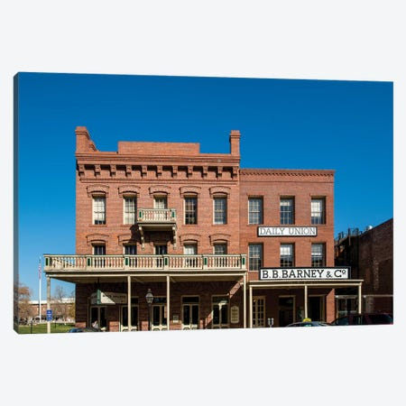 Old Sacramento Historic Center, Sacramento, California.  Canvas Print #MDE13} by Michael DeFreitas Canvas Print