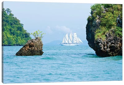 Star Flyer Cruise Ship, Phang Nga Bay, Strait Of Malacca, Andaman Sea Canvas Print #MDE1
