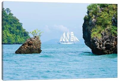 Star Flyer Cruise Ship, Phang Nga Bay, Strait Of Malacca, Andaman Sea Canvas Art Print