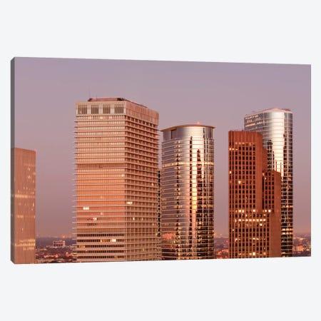 Texas, Houston. Downtown Skyline. Canvas Print #MDE31} by Michael DeFreitas Art Print