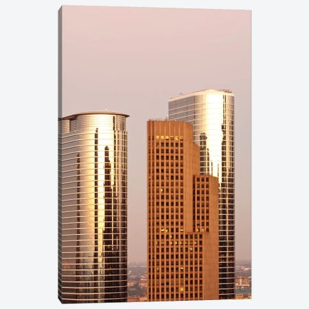 Texas, Houston. Downtown Skyline. Canvas Print #MDE32} by Michael DeFreitas Art Print