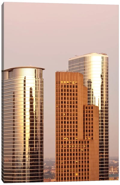 Texas, Houston. Downtown Skyline. Canvas Art Print