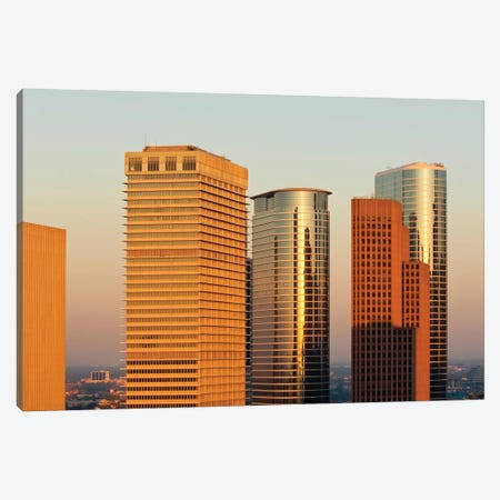 Texas, Houston. Downtown Skyline. Canvas Print #MDE33} by Michael DeFreitas Canvas Print