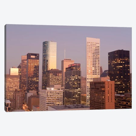 Texas, Houston. Downtown Skyline. Canvas Print #MDE34} by Michael DeFreitas Canvas Wall Art