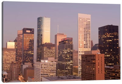 Texas, Houston. Downtown Skyline. Canvas Art Print
