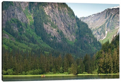 Distant Floatplane, Misty Fjords National Monument, Tongass National Forest, Alaska, USA Canvas Art Print
