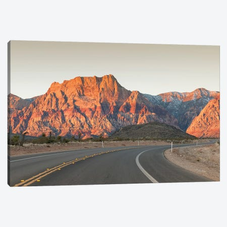 Mount Wilson, Keystone Thrust (Wilson Cliffs), Red Rock Canyon National Conservation Area, Nevada, USA Canvas Print #MDE6} by Michael DeFreitas Canvas Artwork