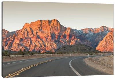 Mount Wilson, Keystone Thrust (Wilson Cliffs), Red Rock Canyon National Conservation Area, Nevada, USA Canvas Art Print