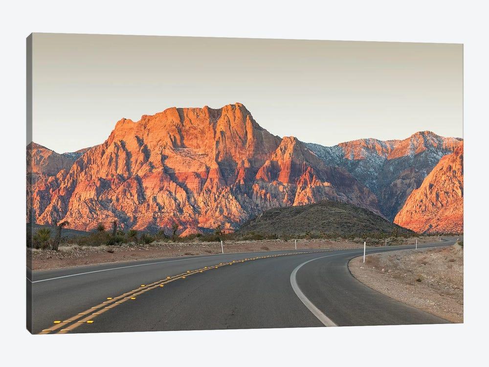Mount Wilson, Keystone Thrust (Wilson Cliffs), Red Rock Canyon National Conservation Area, Nevada, USA by Michael DeFreitas 1-piece Canvas Wall Art