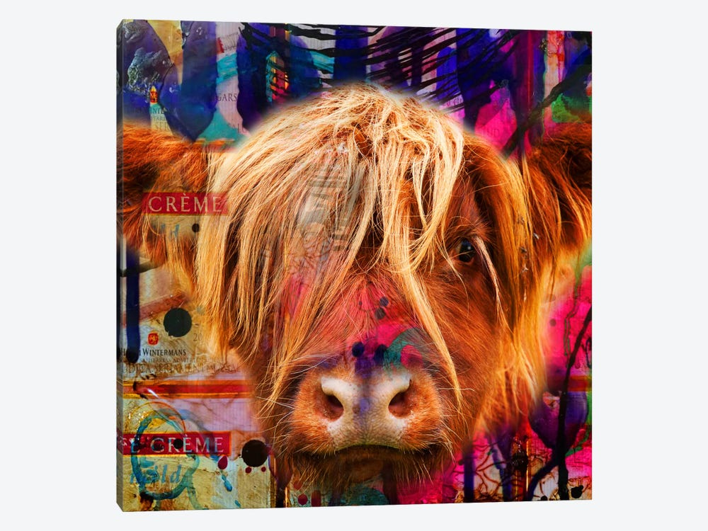 Fancy Cow by Mascha de Haas 1-piece Canvas Print