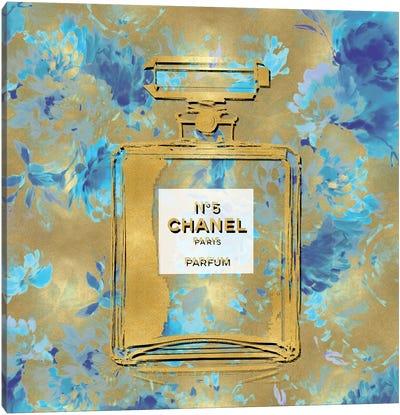 Gold Perfume On Flowers Canvas Art Print