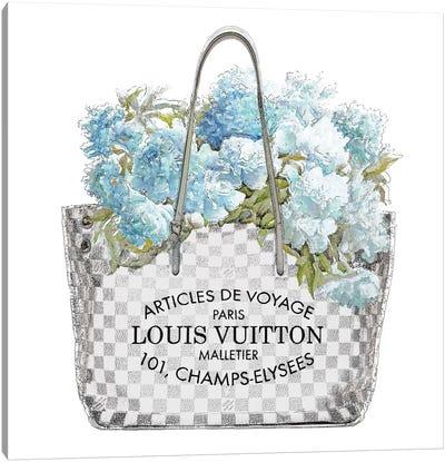 Aqua Bouquet Canvas Art Print