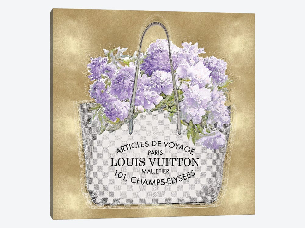 Lavender Bouquet On Gold by Madeline Blake 1-piece Canvas Wall Art