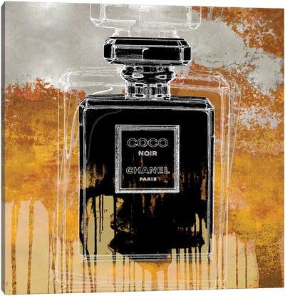 Noir On Amber Canvas Art Print