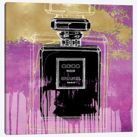 Noir On Pink Canvas Print #MDL24} by Madeline Blake Canvas Art