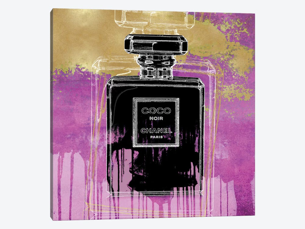 Noir On Pink by Madeline Blake 1-piece Canvas Print