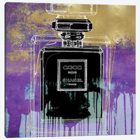 Noir On Purple Canvas Print #MDL25} by Madeline Blake Canvas Wall Art