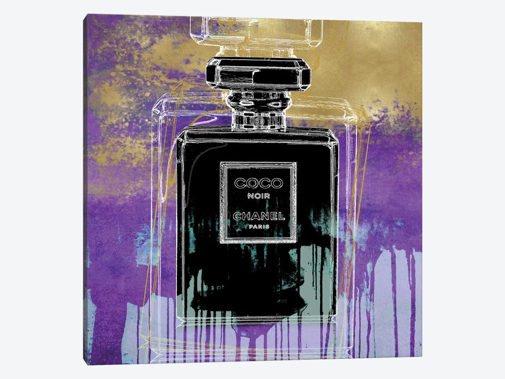 Noir On Purple by Madeline Blake 1-piece Canvas Artwork