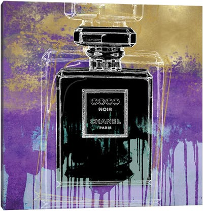 Noir On Purple Canvas Art Print