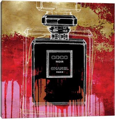 Noir On Red Canvas Art Print