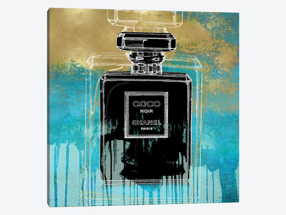 Noir On Teal 1-piece Canvas Artwork